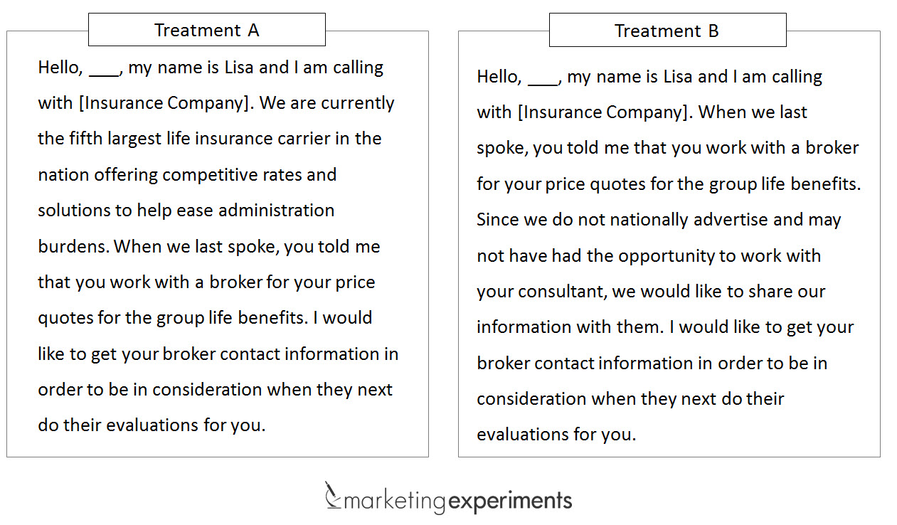 Telemarketing Script For Insurance | Motavera.com