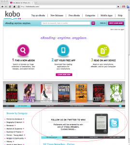 Kobo Homepage Ad