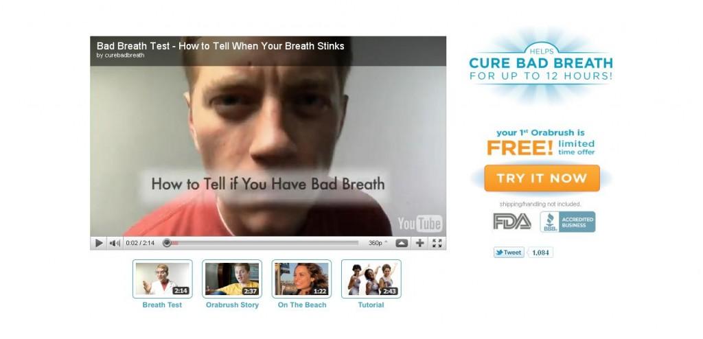 Orabrush YouTube Landing Page
