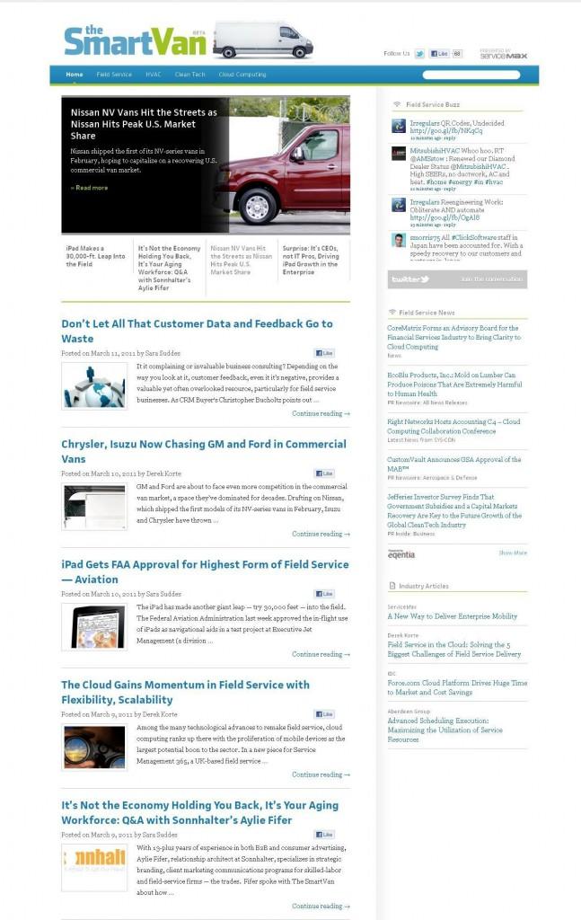 SmartVan Site Screenshot 1