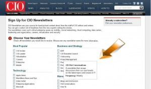CIO Email Newsletters Expectations