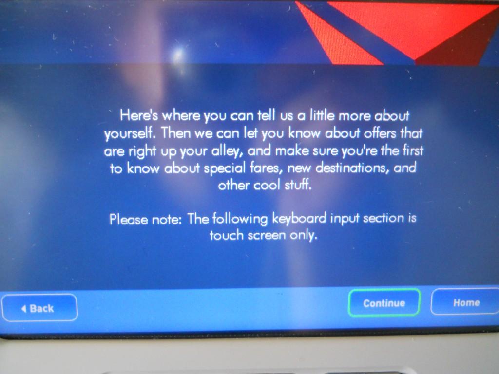 Delta In-Flight Email Opt-in