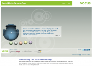 Vocus Social Media Strategy Tool