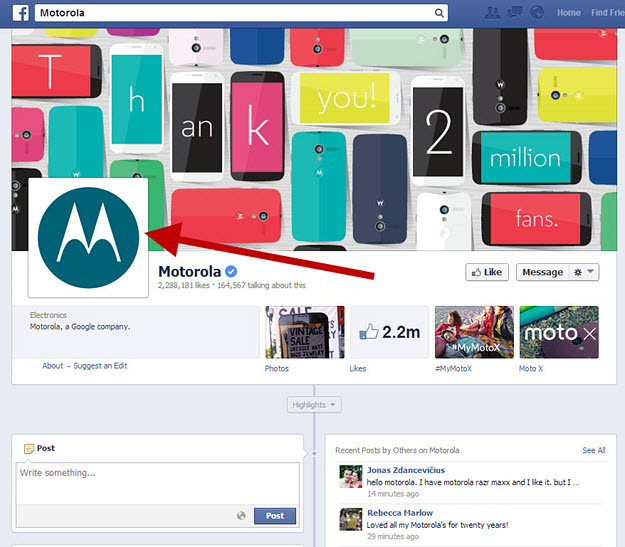 how to move profile picture box on facebook