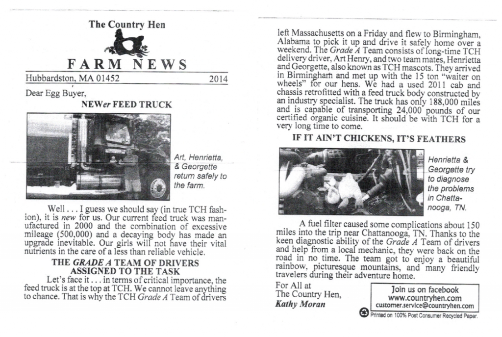 country-hen-newsletter