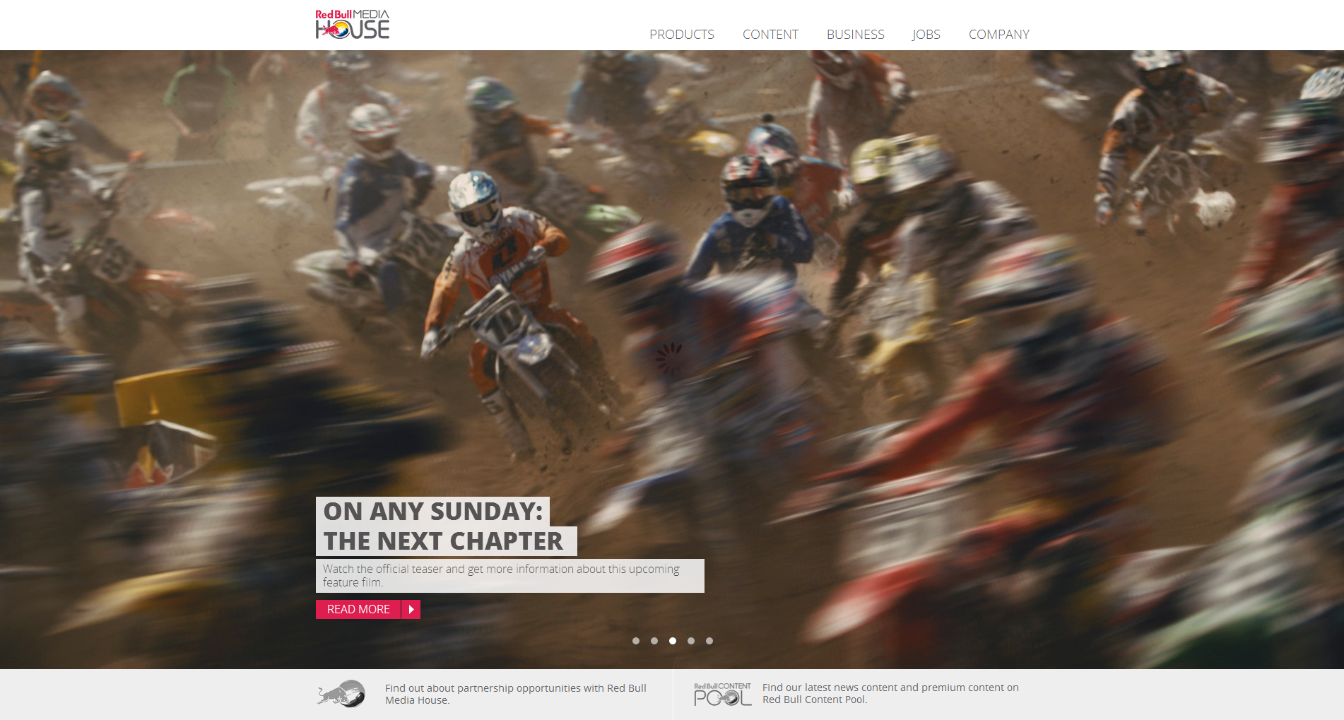 Red Bull Media House Website