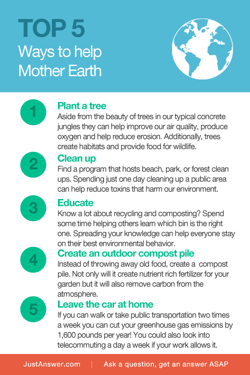 JustAnswer Earth Day