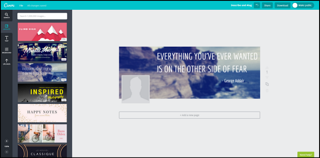 Canva for visual images