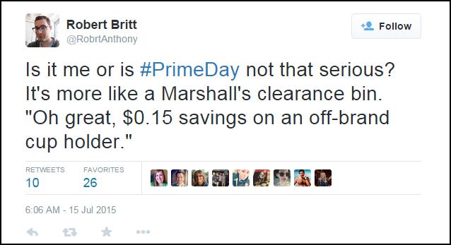 Amazon Prime Day Twitter Response