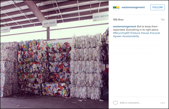 @wastemanagement Instagram Post