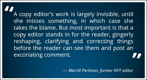 Copy Editor Quote