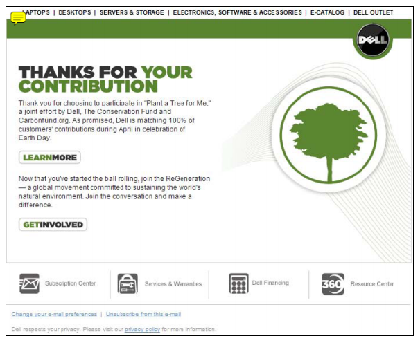 Dell's Plant a Tree email