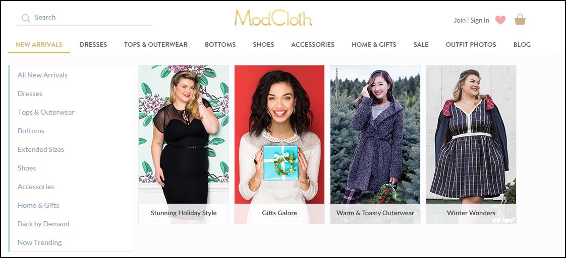 Modcloth clothing sizes