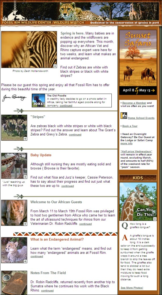 Wildlife Watch email