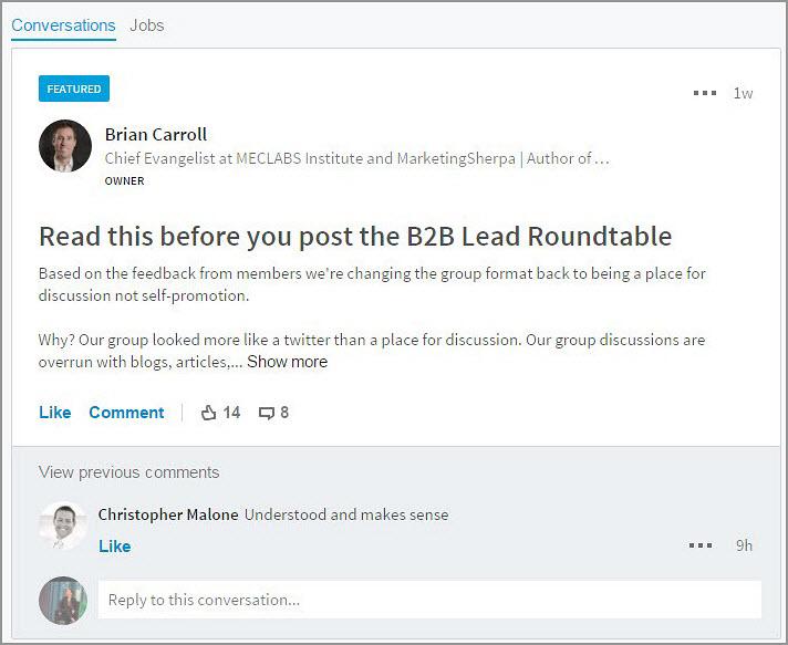 B2B Lead Blog Conversations