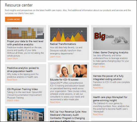 Optum's consumer resource center
