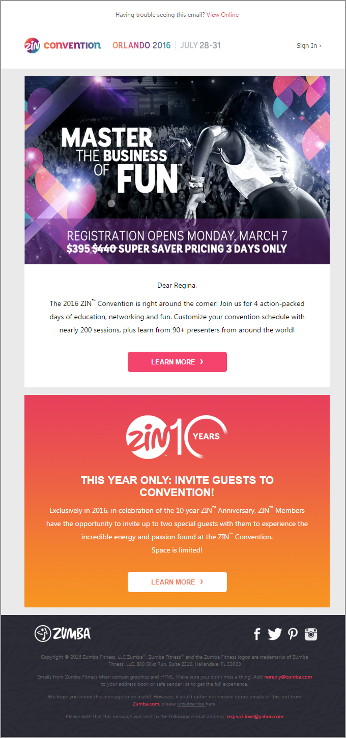 How to market your event the zumba way marketingsherpa blog zincon email stopboris Image collections